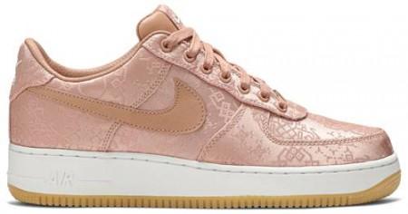 Nike Fake Force 1 Low Premium X Clot 'Rose Gold Silk '(Regular Box)