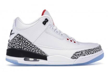 Fake Jordan 3 Retro Free Throw Line White Cement