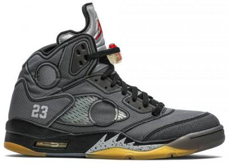 Fake Jordan 5 Retro Off White Black
