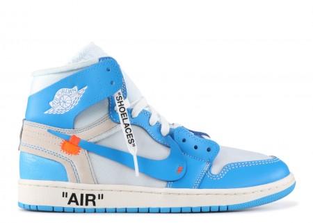 Fake Jordan 1 Retro High Off-White University Blue