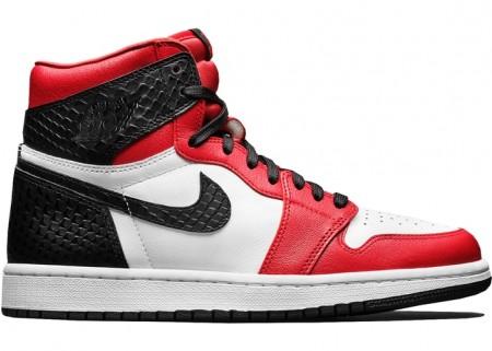 Fake Jordan 1 Retro High Satin Snake Chicago