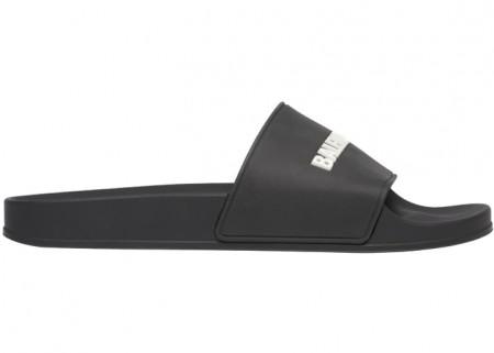 Balenciaga Pool Slide Black White