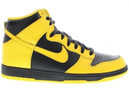 Nike Dunk High Black Yellow