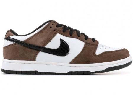 Nike SB Dunk Low White Black Trail End Brown