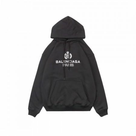 Balenciaga 19Fw  Black Hoodie With Crown