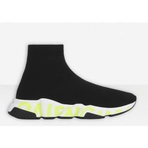 Balenciaga Speed Black White Green sneaker