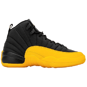 Fake Jordan 12 Retro Black University Gold