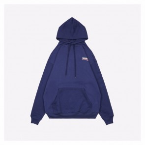 Balenciaga 20Fw Blue Hoodie With Letter