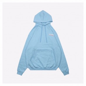 Balenciaga 20Fw Light Blue Hoodie With Letter