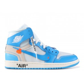 Fake Jordan 1 Retro High Off-White University Blue