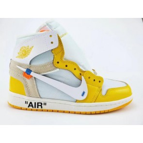 Fake Jordan 1 Retro High Off-White Yellow