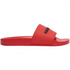 Balenciaga Pool Slide Red