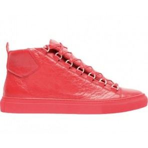 Balenciga Arena Creased Red Leather Sneaker