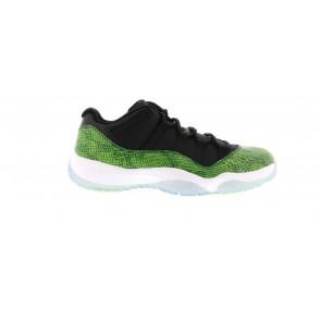 Fake Jordan 11 Retro Low Green Snakeskin