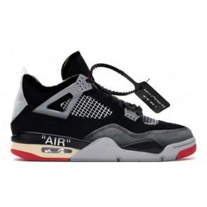 Fake Jordan 4 X Off White Bred